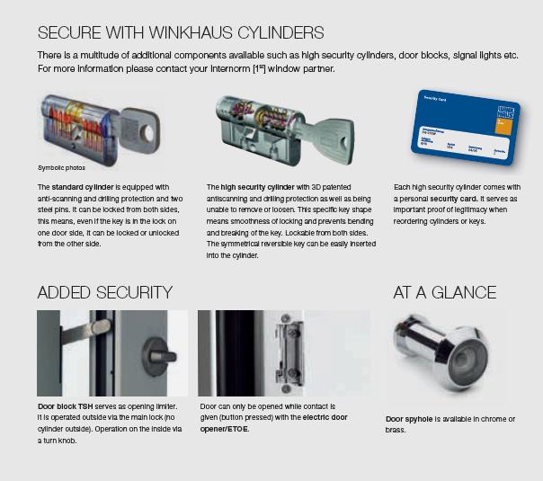 internorm door locks